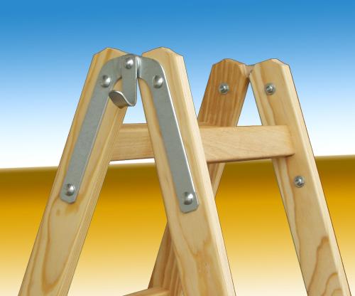 stehleiter malerleiter bockleiter holz artikel nr 16 10 2x10 sprossen l 2 90 m eimerhaken. Black Bedroom Furniture Sets. Home Design Ideas